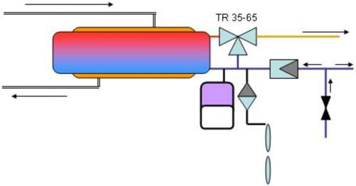 Boileri ühendamise skeem