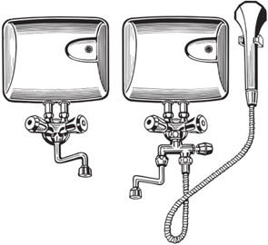 Läbivooluboiler ehk kiirboiler + kraan, dušš
