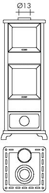 Kamin Dafne Oven 7,2 kW EdilKamin