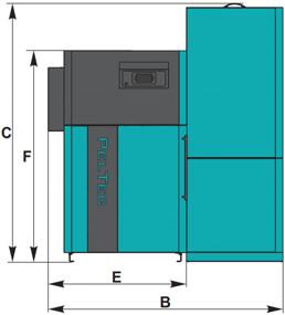 Pelletkatel Centrometal PelTec E