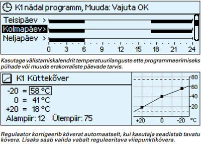 Kasutage välistamiskalendrit temperatuurilanguste ette programmeerimiseks  pühade või muude erakorraliste päevade tarvis
