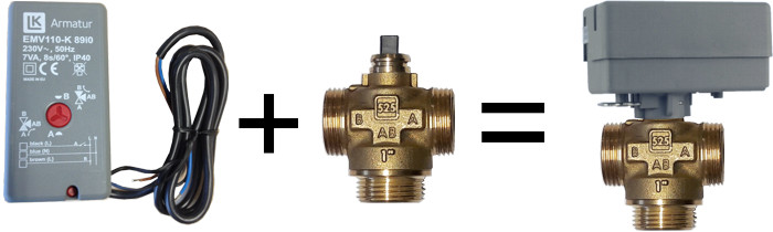 Actuator and zone valve