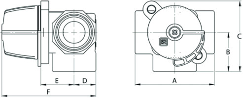 3 T ventiil - seguventiil (kolmiksegisti), messing, LK Armatur 840 ThermoMix® 2.0