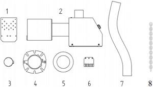 Pelletipõleti Pelltech PV 20 ja 30 b komplektsus