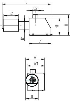 Pelletipõleti PV 30 b Pelltech mõõdud